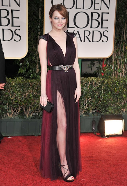 Emma Stone – in Lanvin – at the 69th Golden Globe Awards in Beverly Hills
