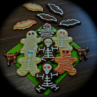 Galletas de Halloween esqueletos