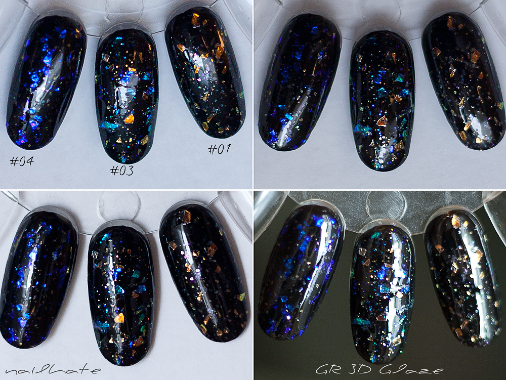 Golden Rose 3D Glaze top coat #01, #03, #04