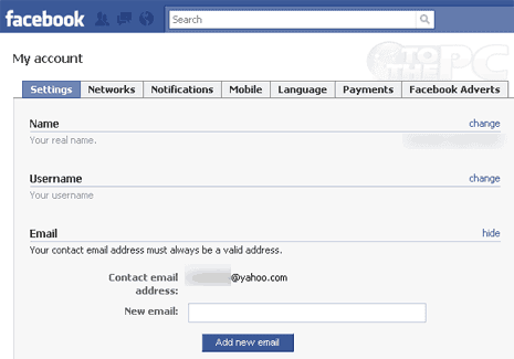 how to change my facebook login email