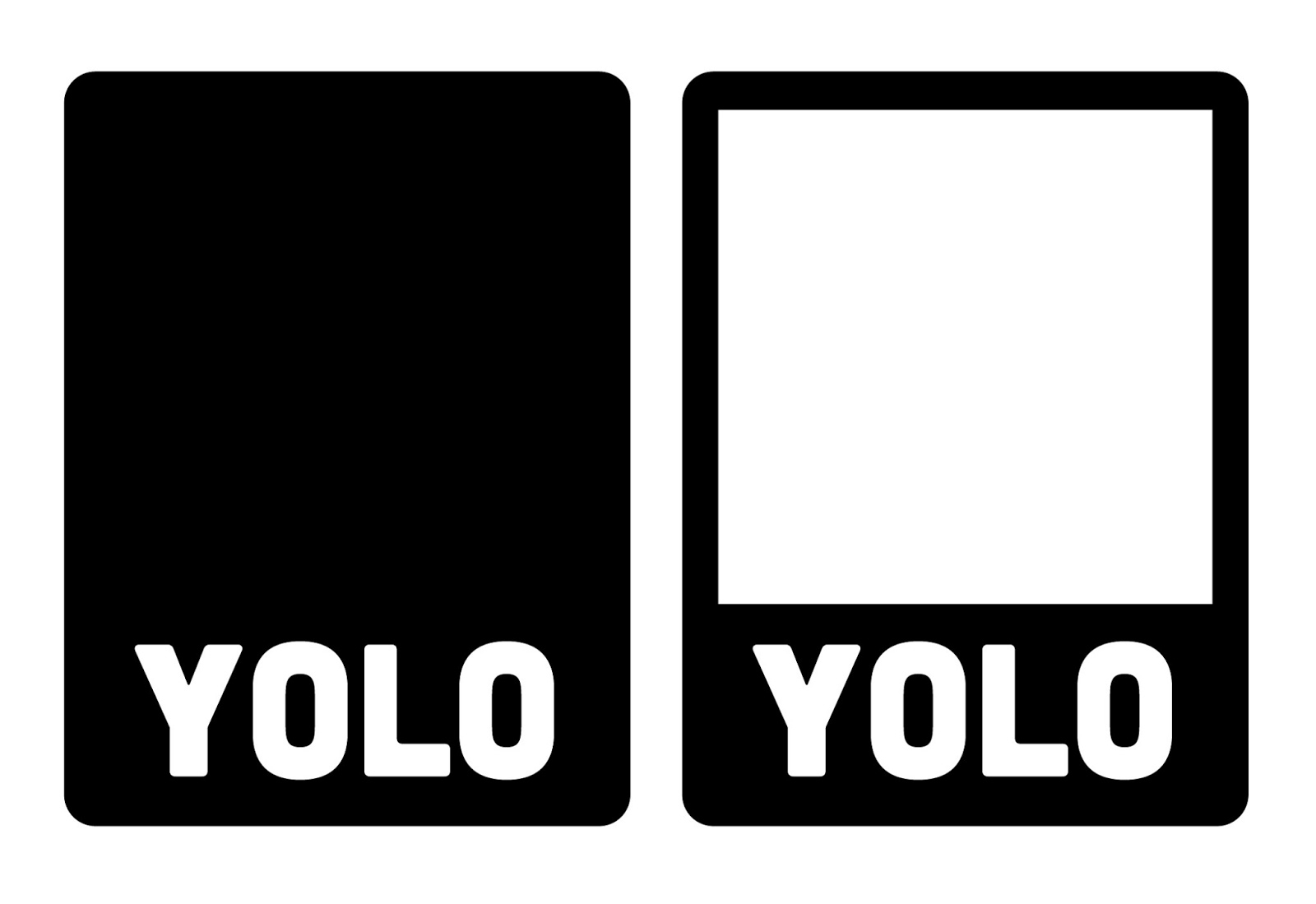 Yolo SVG Cut File Card Project Life Free