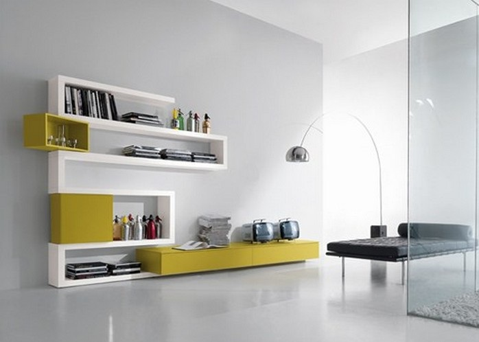 mensole moderne : Furniture Interior Design: The Library Creative Side functional