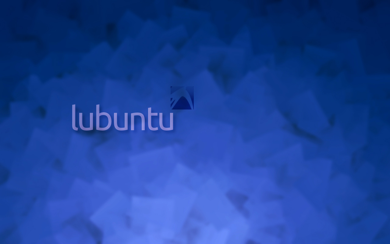 Free Lubuntu Wallpapers Blue Square