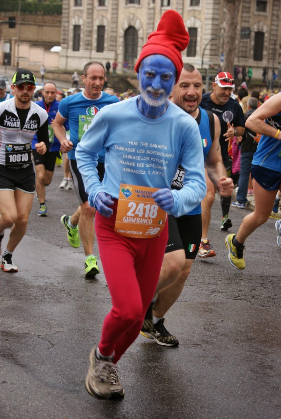 Maratón de Roma 2014 pitufo