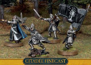 Figurki Władca Pierścieni LotR: SBG, New Minas Tirith Command Group, nowa grupa dowodzenia Gondoru Minas Tirith Osgiliath