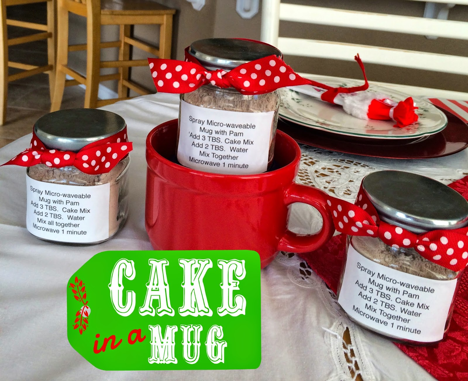 Marci coombs cake in a mug cute neighbor gift idea for Christmas cake gift