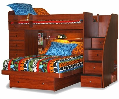 1 Double Bed With Chest And Stairs