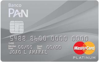 Cartão Panamericano MasterCard Platinum