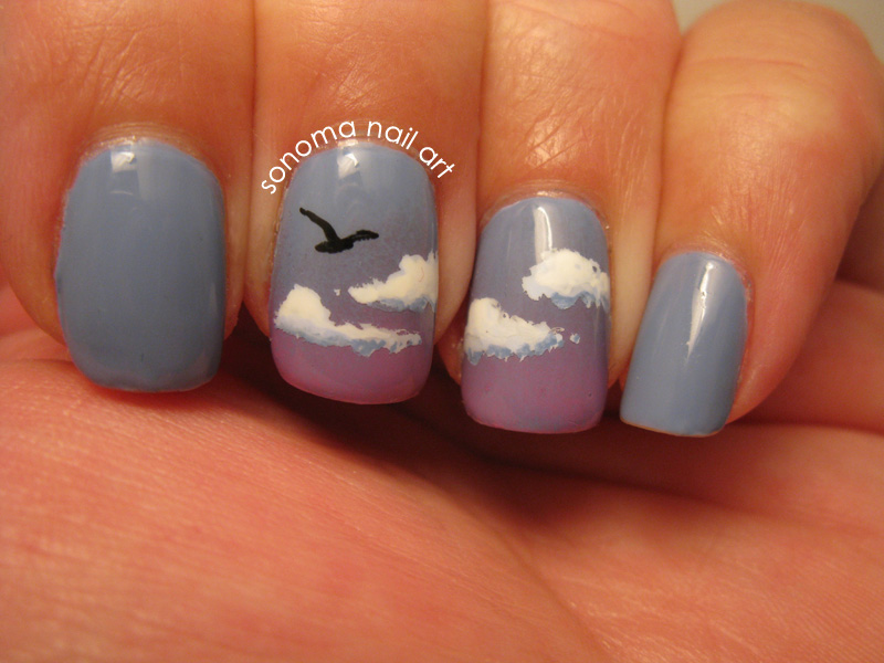 Sonoma Nail Art Cloud Gradient
