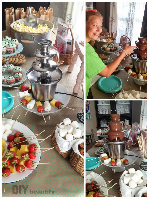 Awesome food ideas for a tween birthday party | DIY beautify