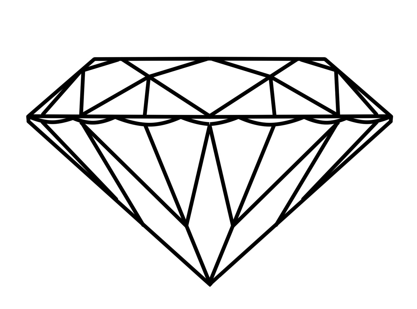 Line Art Diamond : How to diamond drawings design practice
