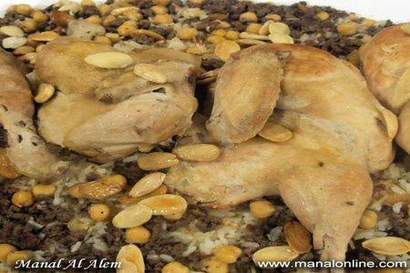 دجاج بالأرز واللحم المفروم - مطبخ منال العالم