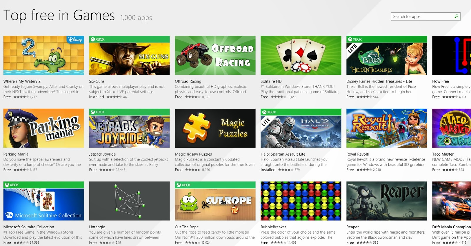 Windows Game Store