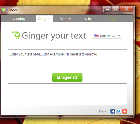 to some extent with ginger software what is ginger software