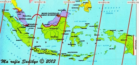 Bangkai Satelit GOCE di Atas Indonesia 10-11 November 2013