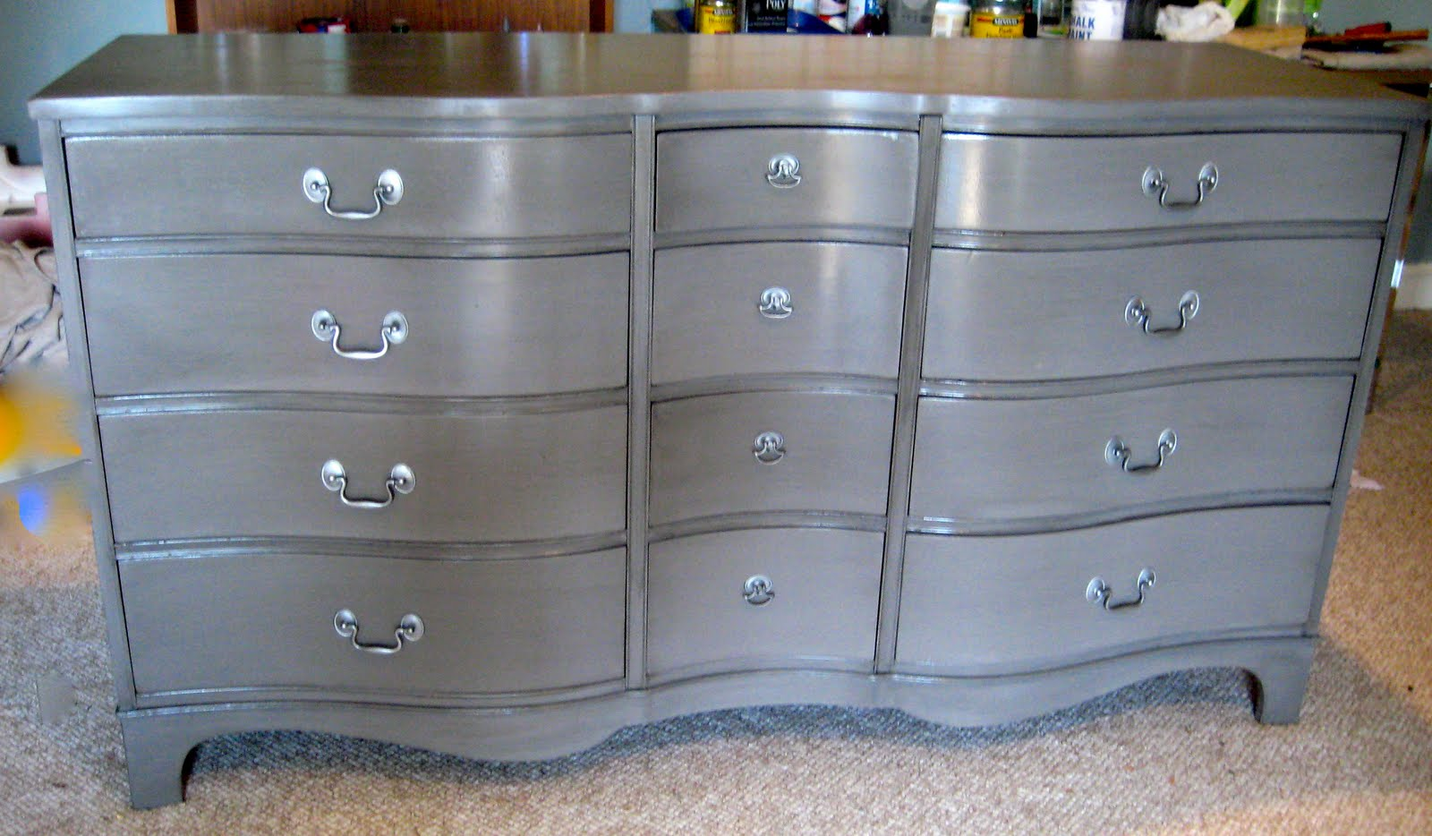 Lucky Me Studios Smokin 39 Grey Dresser For Moi