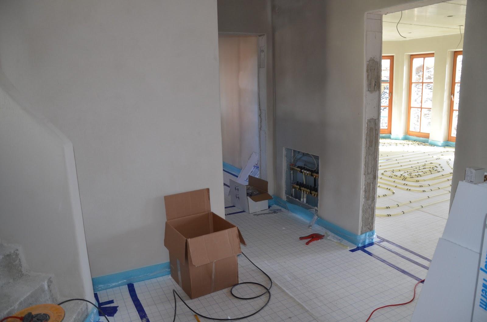 Werner 39 s hausbau blog verputzen bodenheizung terassendach for Wohnzimmer verputzen