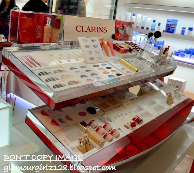 Clarins makeup counter