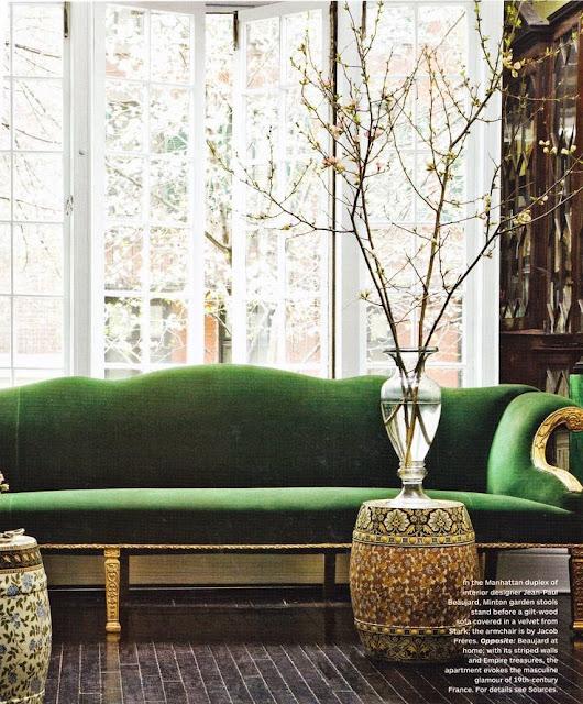 emerald green sofa gold legs