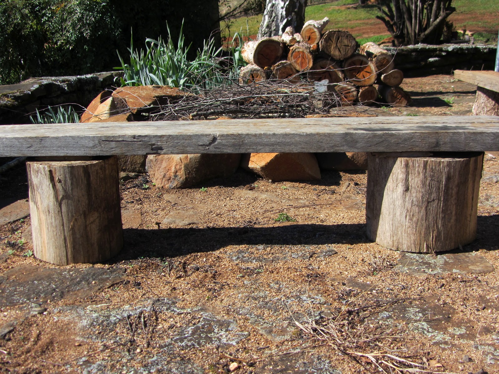 build a fire pit bench