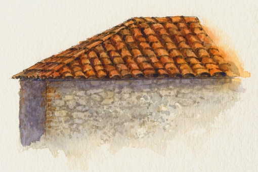 Here are some options for mixing convincing colors for terracotta roof tiles. & Everyday Artist: Sneak Preview! Step-by-Step Watercolor Painting ... memphite.com
