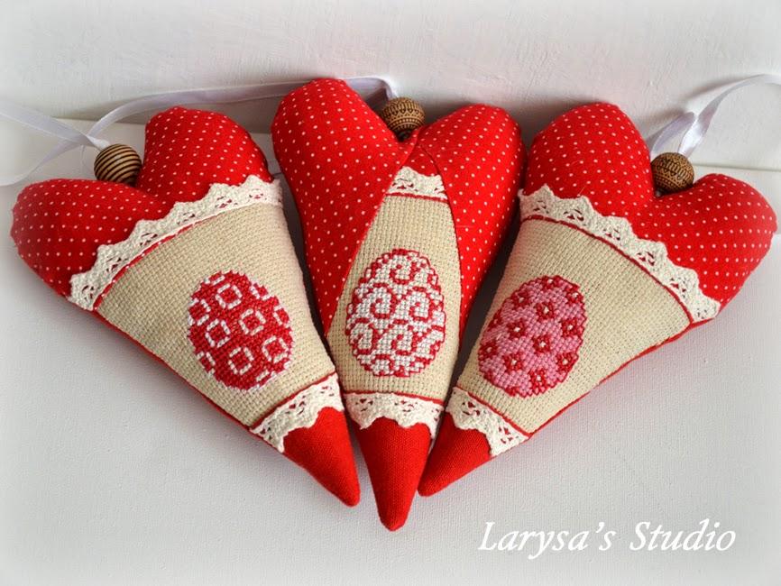 сердечки в вышивкой