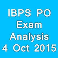IBPS PO MT Exam Day 2 (04th October 2015) Exam Analysis