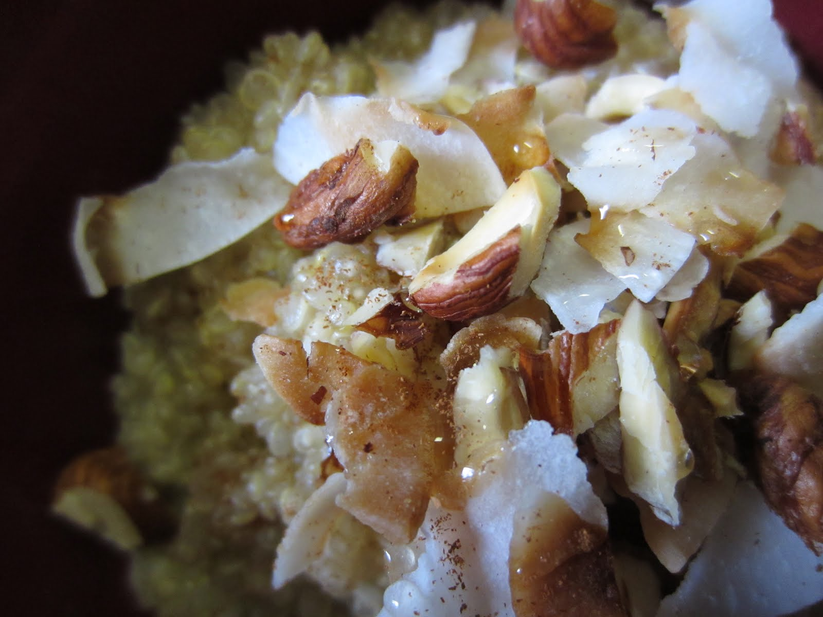 Warm and Nutty Cinnamon and Coconut Quinoa adapted from 101 Cookbooks