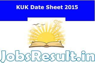KUK Date Sheet 2015