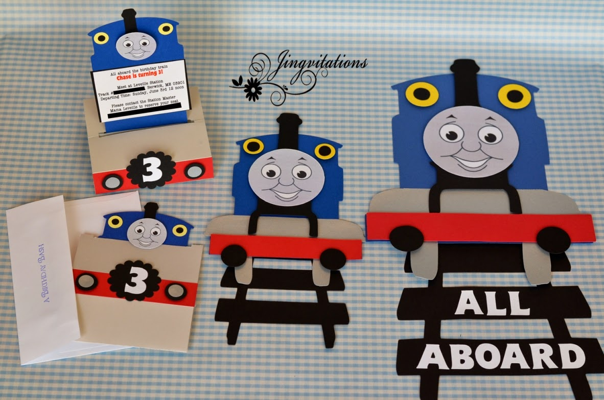Jingvitations thomas the train
