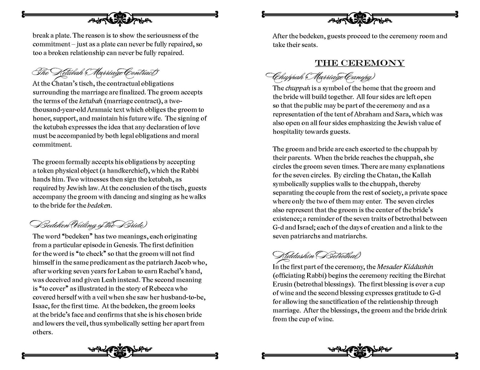 Custom printables december 2011 mihoko requested a classic wedding program for her traditional orthodox wedding the program features elegant fonts and a simple decorative motif buycottarizona Image collections
