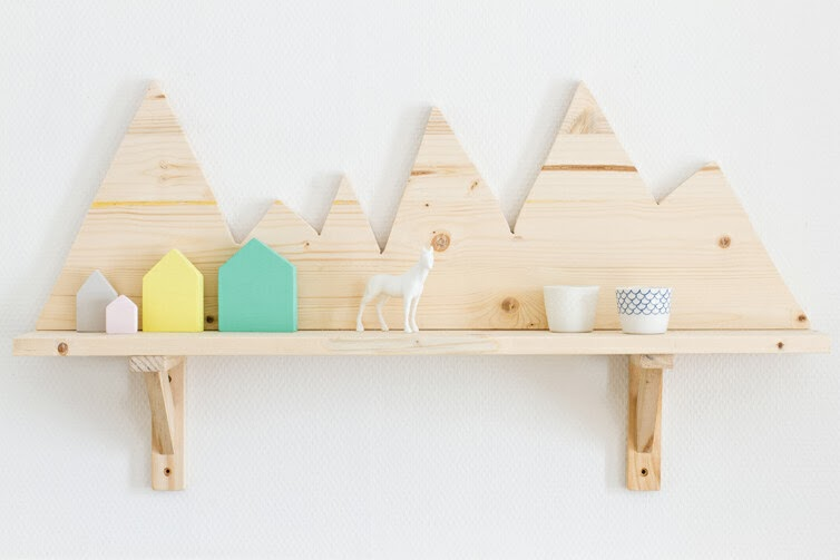 Ikea Hack Mountain Shelf from CARNETS PARISIENS
