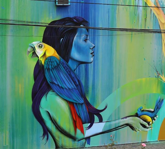 New StreetArt Collaboration By Fin DAC, Angelina Christina and Nove DigitalOrganico in Vila Madalena, Sao Paulo  3