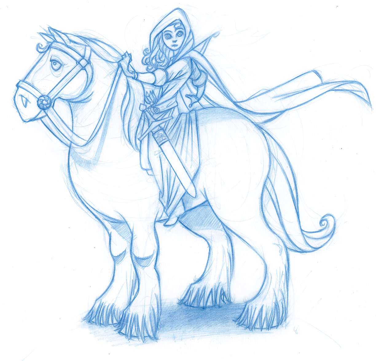 just a doodlin' - the art of michael mccabe: merida and angus