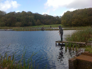 Lee fishing in the International