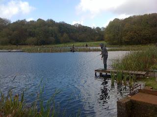 Lee fishing in the International