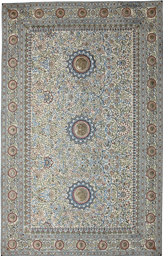 Made for Maharajahs: pearl carpet
