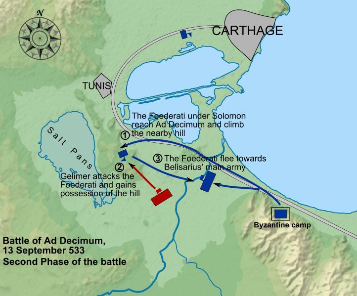 Il grosso delle truppe di Gelimeroinflisse serie perdite alle truppe ...