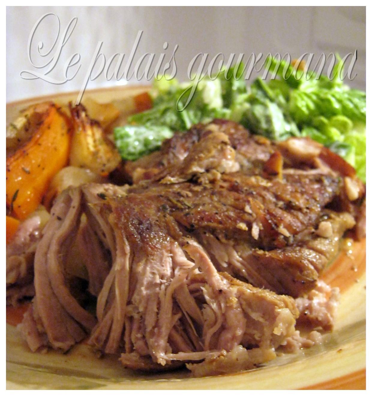 Le palais gourmand r ti de palette de porc - Cuisiner palette de porc ...