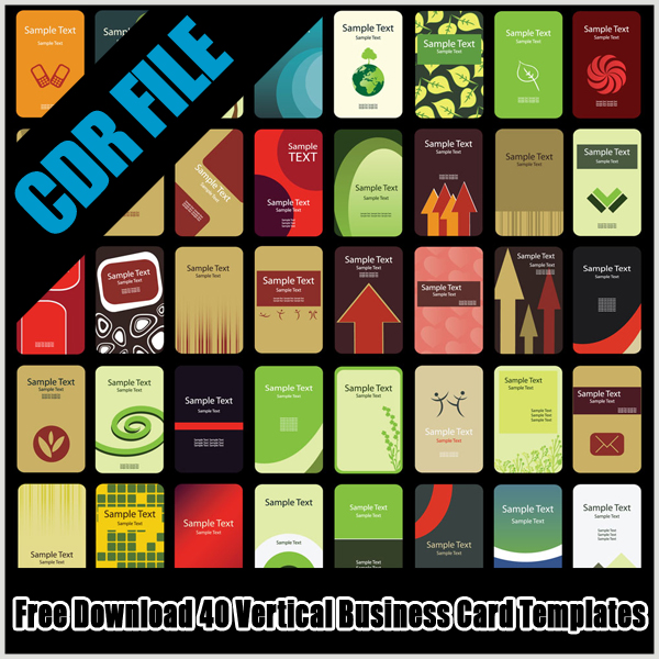 Free Download 40 Vertical Business Card Templates Part 2