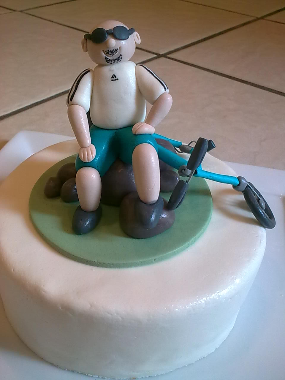 The Nocturnal Baker Birthday Cake For A Hardcore Cyclist