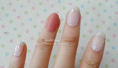 Pink Gray Easy Nail Art, Pink Blue Stripe Nail art