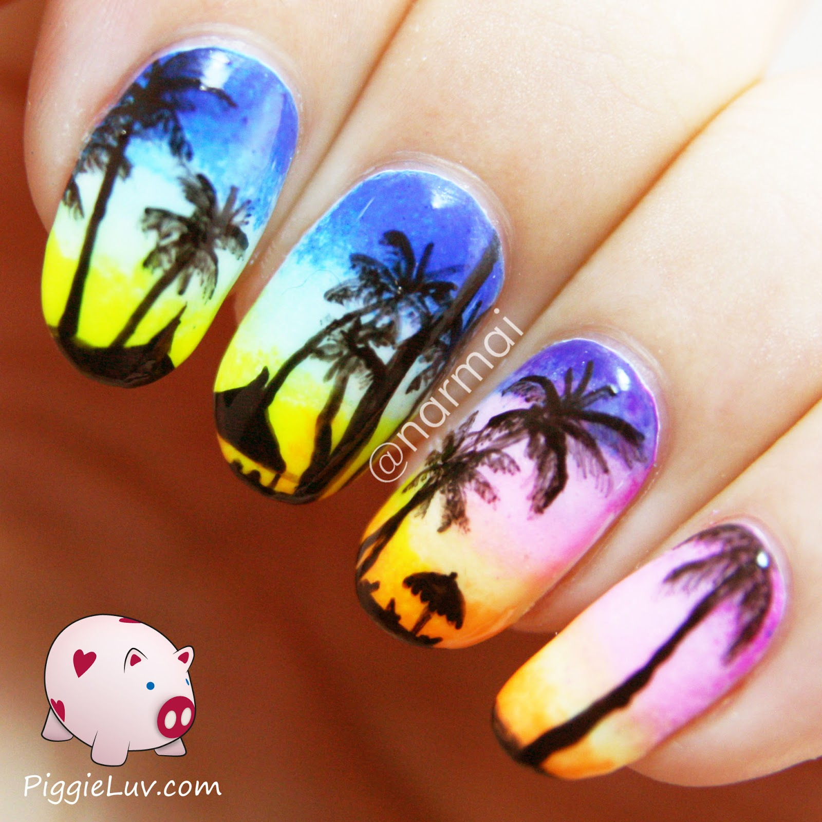 Piggieluv tropical beach at sunset nail art glow in the dark tropical beach at sunset nail art glow in the dark video tutorial prinsesfo Gallery