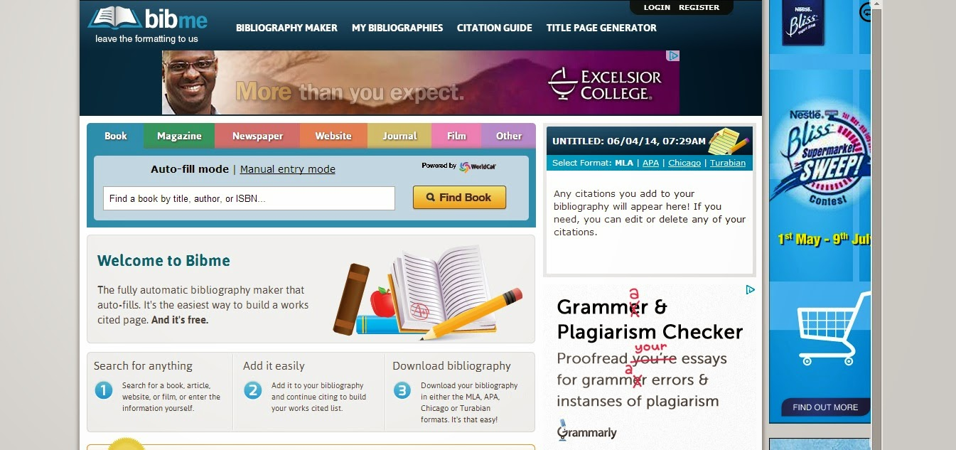 mla citation maker college If you need help, click on the citation maker instructions, which are also found at the bottom of every template oslis mla secondary citation home.