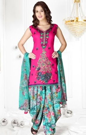 Printed Patiala Salwar Suits