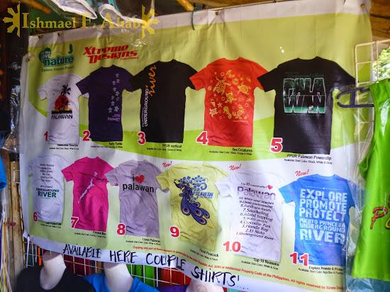 Souvenir shirts at Sabang Wharf, Puerto Princesa