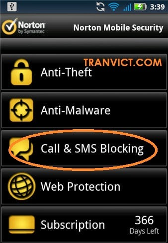 Norton Security Call Block