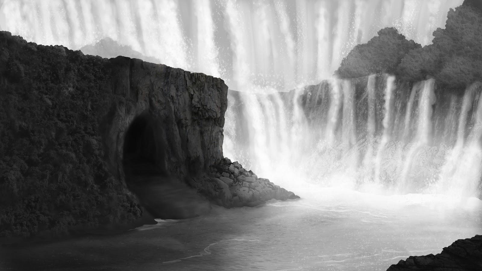 Mini monster mill environment design waterfalls concept for Waterfall environment