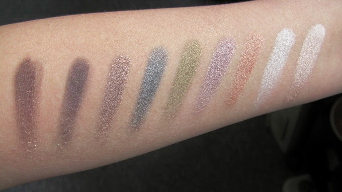 the balm shady lady vol 2 eyeshadow palette swatches