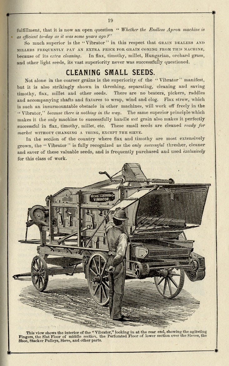 Climbing My Family Tree: Nichols, Shepard & Co Catalog - Vibrator Thresher, 1876